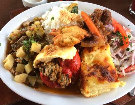 Americano dish Arequipa